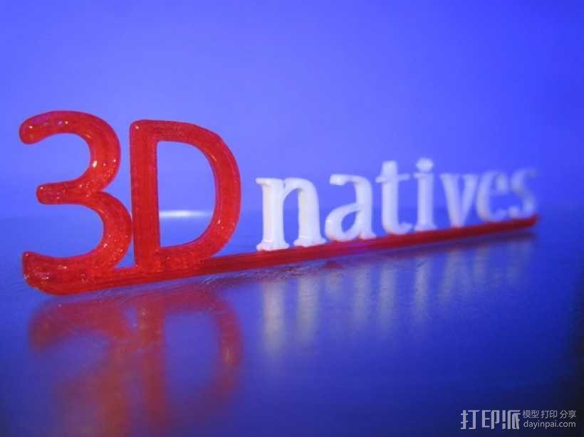 3Dnatives logo 3D模型  图7