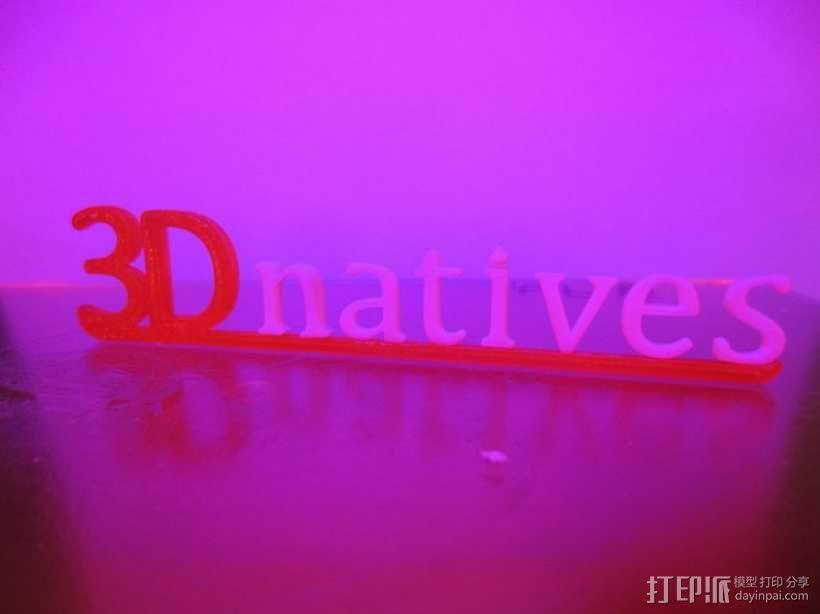 3Dnatives logo 3D模型  图6
