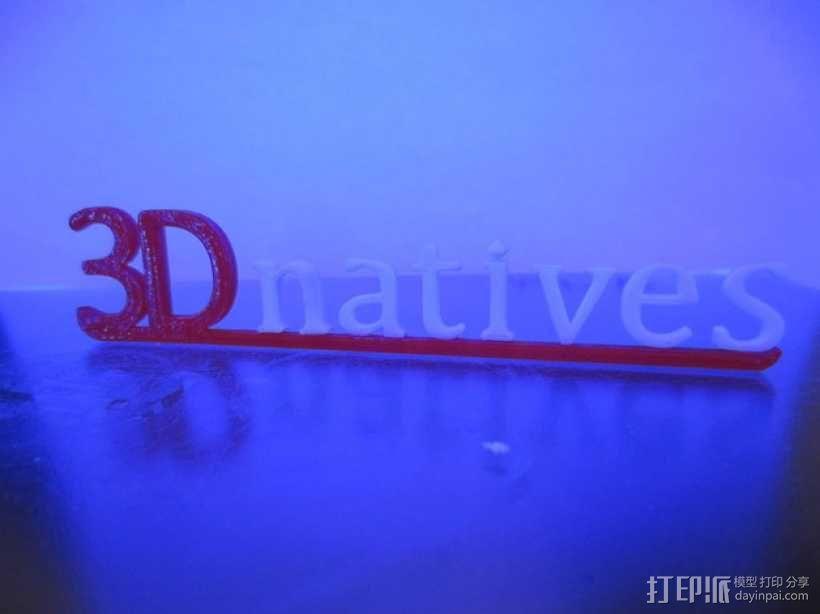 3Dnatives logo 3D模型  图5