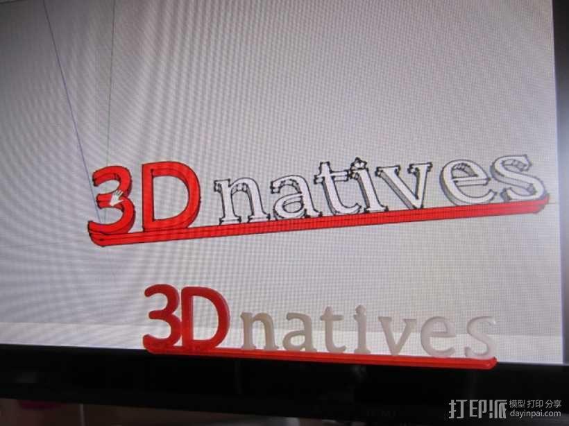 3Dnatives logo 3D模型  图4