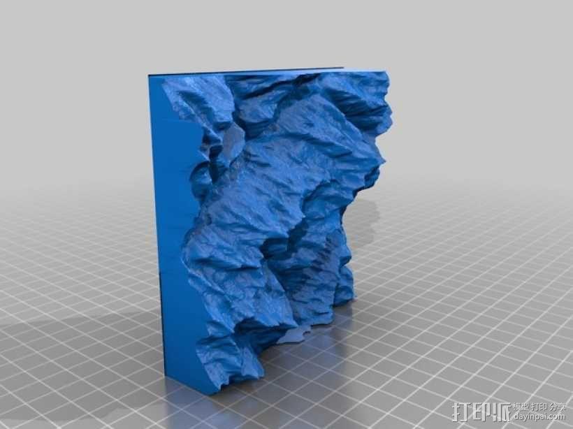 夏蒙尼-勃朗峰 3D模型  图2