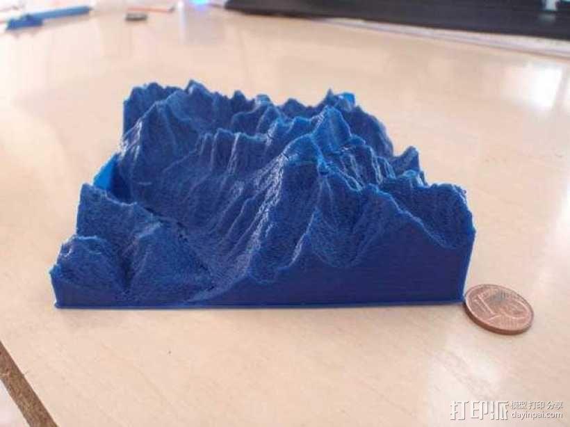 夏蒙尼-勃朗峰 3D模型  图1