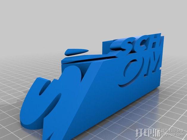 3语种阴影字体 3D模型  图2