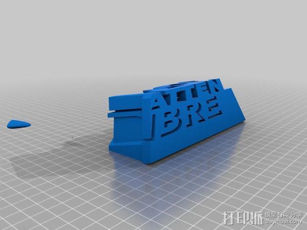 3语种阴影字体 3D模型  图3
