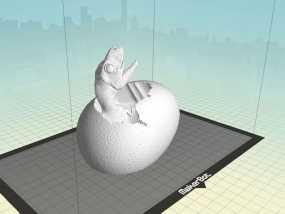 破壳而出的恐龙宝宝 3D模型