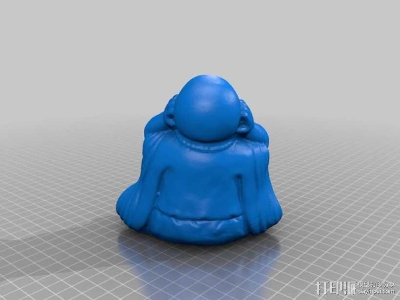 佛像 -- 非礼勿视/非礼勿听/非礼勿言 3D模型  图2