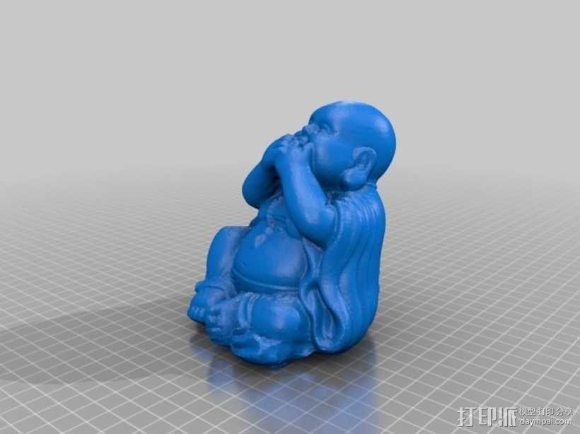 佛像 -- 非礼勿视/非礼勿听/非礼勿言 3D模型  图3
