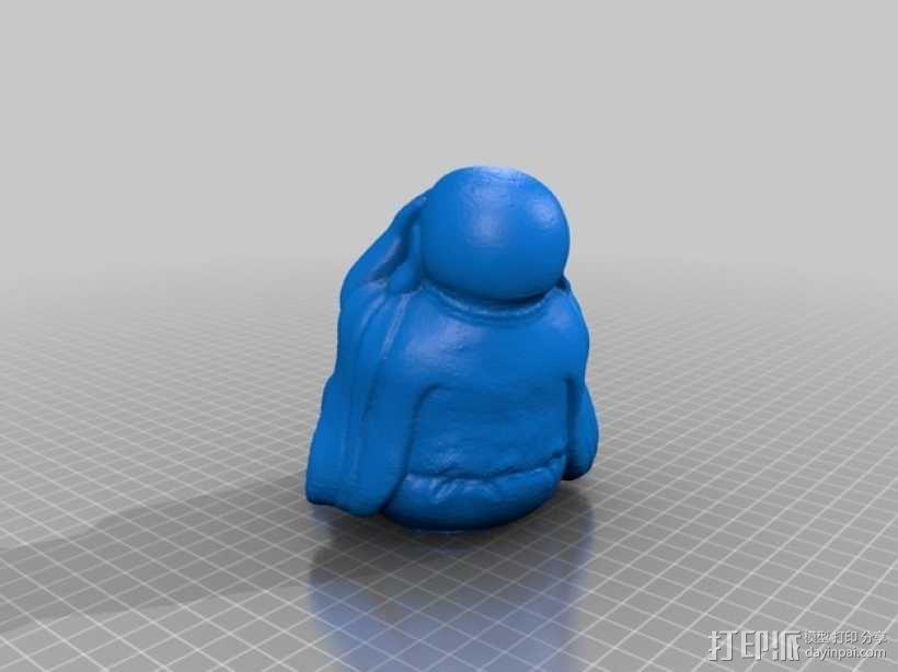 佛像 -- 非礼勿视/非礼勿听/非礼勿言 3D模型  图4