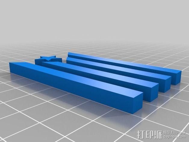 加泰罗尼亚 徽章 3D模型  图2