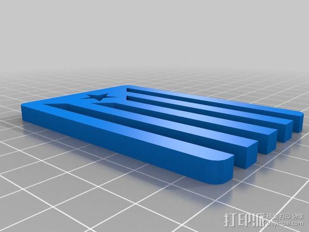 加泰罗尼亚 徽章 3D模型  图3