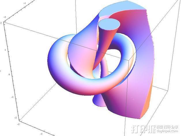 三叶结 3D模型  图3