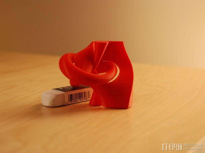 三叶结 3D模型  图1