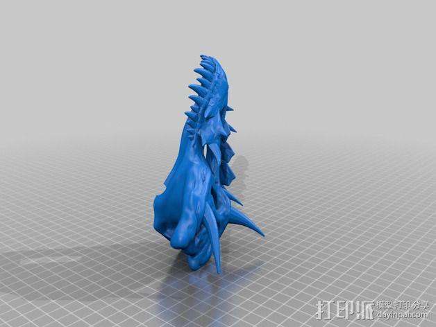霸王龙 头骨 3D模型  图3