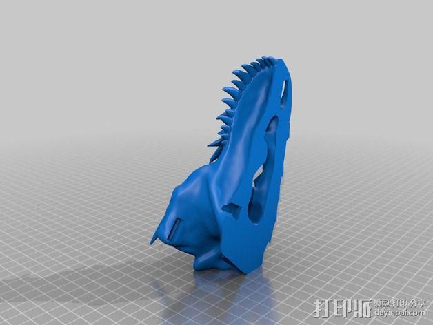 霸王龙 头骨 3D模型  图2