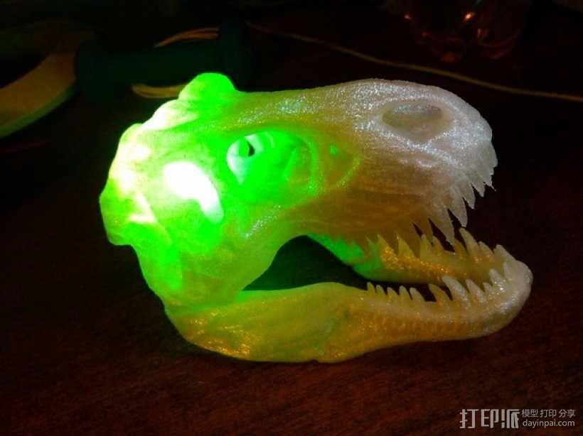 会发光的霸王龙头骨 3D模型  图1