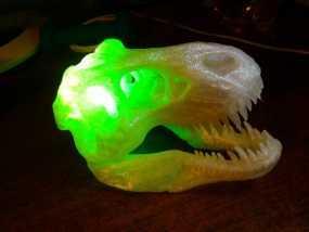 会发光的霸王龙头骨 3D模型