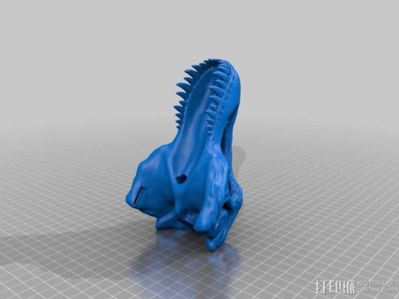 会发光的霸王龙头骨 3D模型  图2