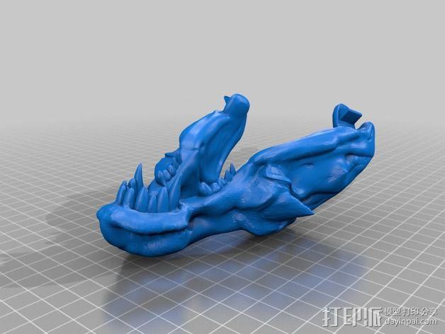 暴龙与地狱猎犬的结合 3D模型  图2