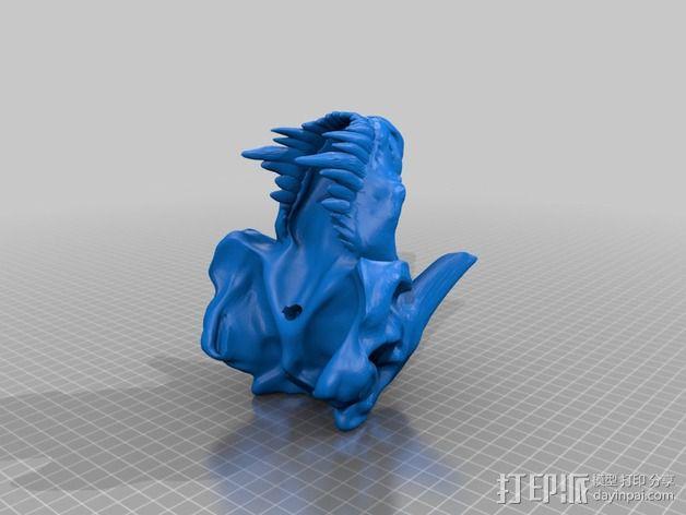 暴龙与地狱猎犬的结合 3D模型  图4