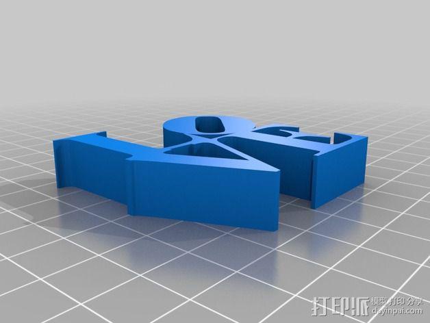 泰森多边形法风格-Love 3D模型  图2