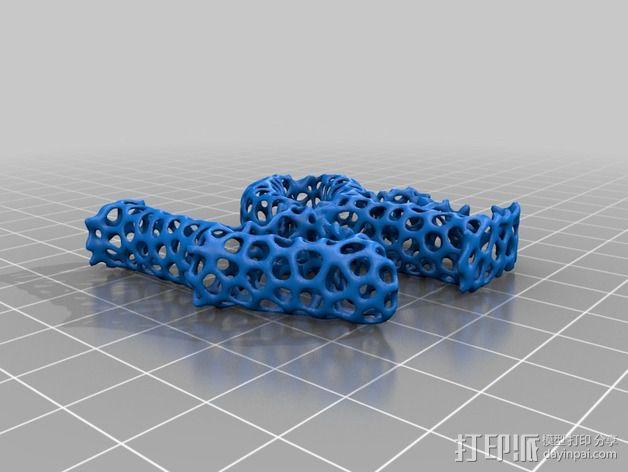 泰森多边形法风格-Love 3D模型  图3