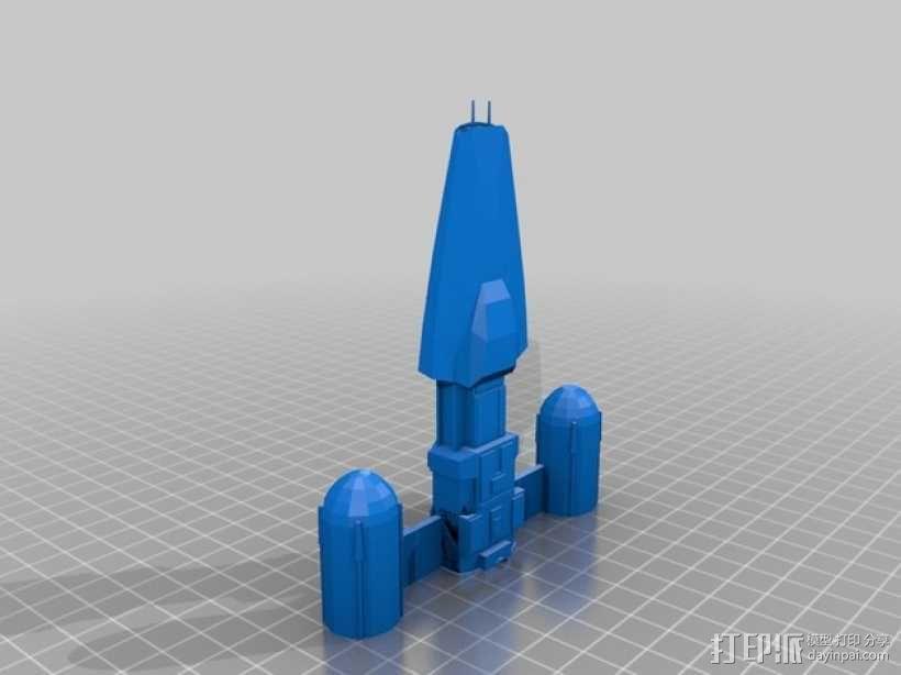 Y翼战斗机 3D模型  图2