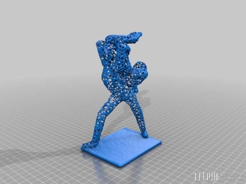 泰森多边形风格的舞者 3D模型  图2