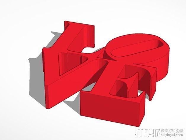 爱 3D模型  图3