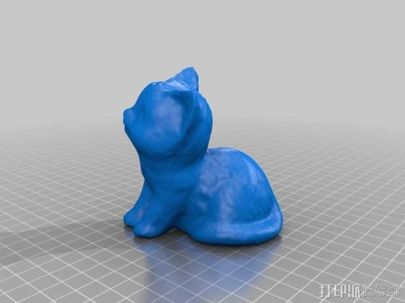 坐着的小猫  3D模型  图2