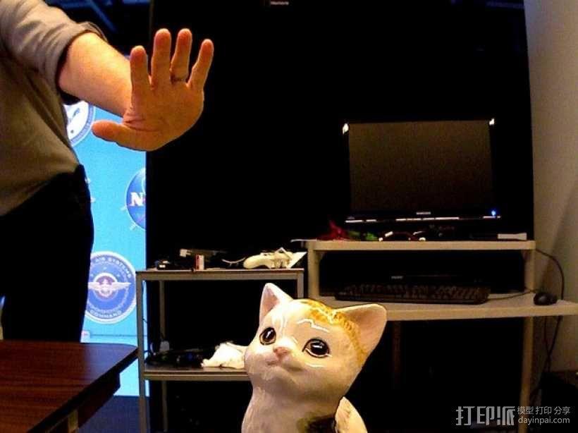 坐着的小猫  3D模型  图1