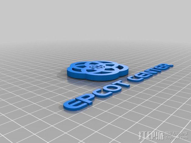 迪士尼未来世界徽章 3D模型  图3