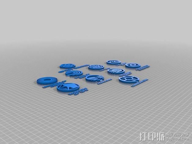 迪士尼未来世界徽章 3D模型  图5