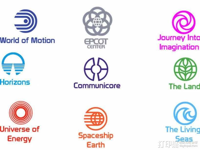 迪士尼未来世界徽章 3D模型  图6