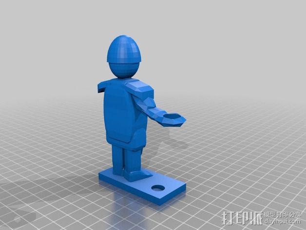 战士 笔筒 3D模型  图2