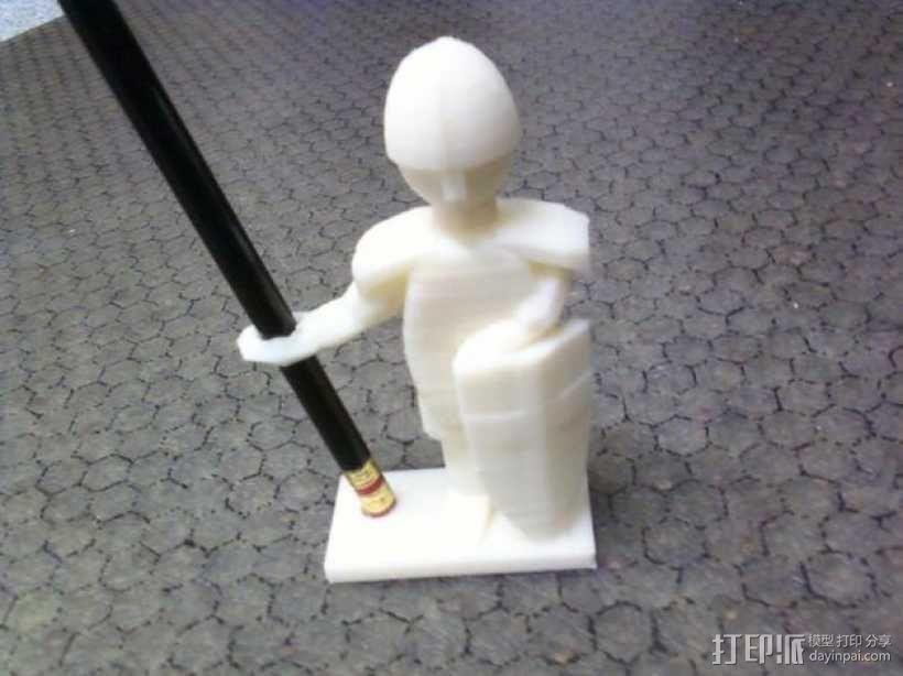 战士 笔筒 3D模型  图1