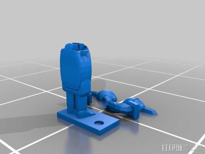 战士 笔筒 3D模型  图3
