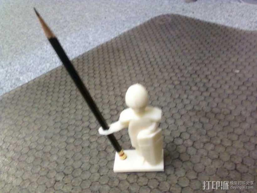 战士 笔筒 3D模型  图4