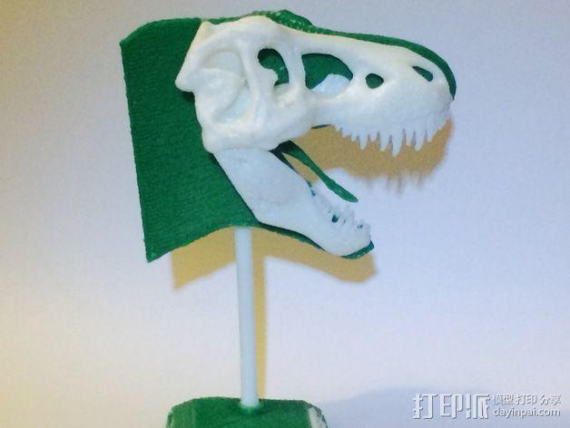 双色恐龙头骨 3D模型  图4