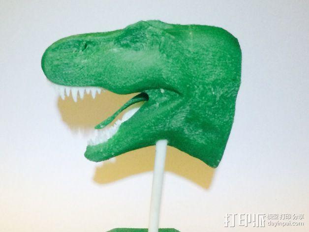 双色恐龙头骨 3D模型  图5