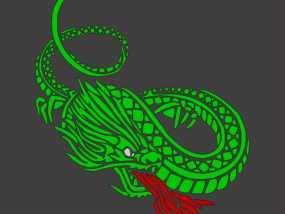 龙 3D模型