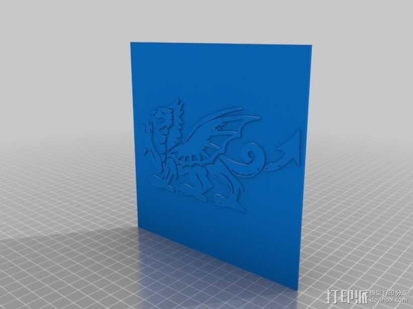 龙形图案7 3D模型  图2
