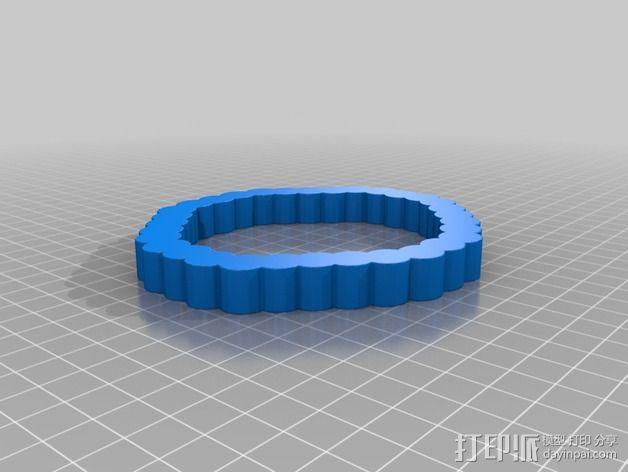 双色手环 3D模型  图2