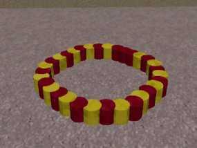 双色手环 3D模型