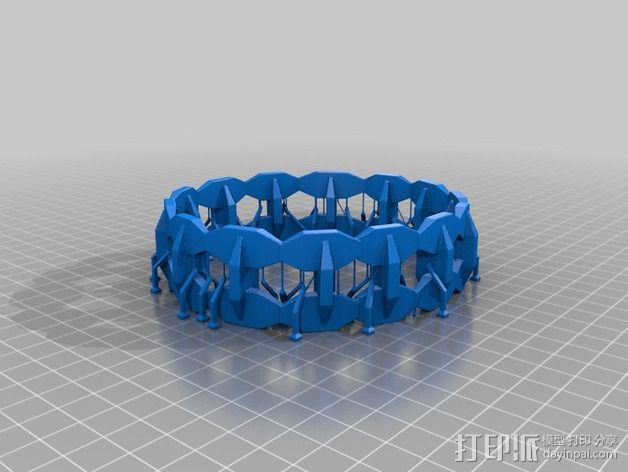 双色手环 3D模型  图3