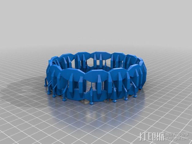 双色手环 3D模型  图4