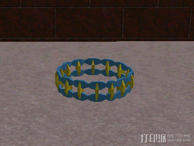 双色手环 3D模型  图5