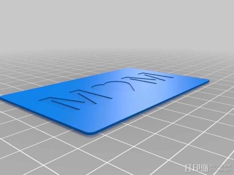 MOM 卡片 3D模型  图4
