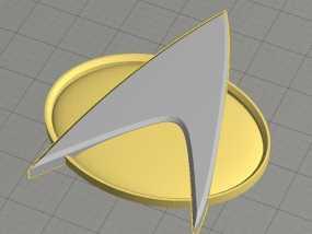 《星际迷航》通信徽章 3D模型