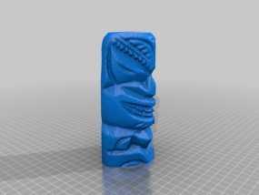 夏威夷木雕 3D模型