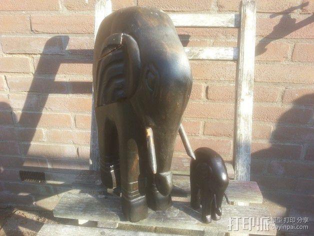 大象 雕塑 3D模型  图1
